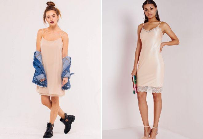 нежные бежевые платья 2017