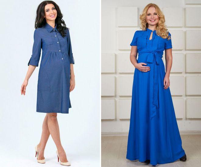 Модные летние платья для беременных – длинные и миди, вечерние и ... e3f01f86ee7