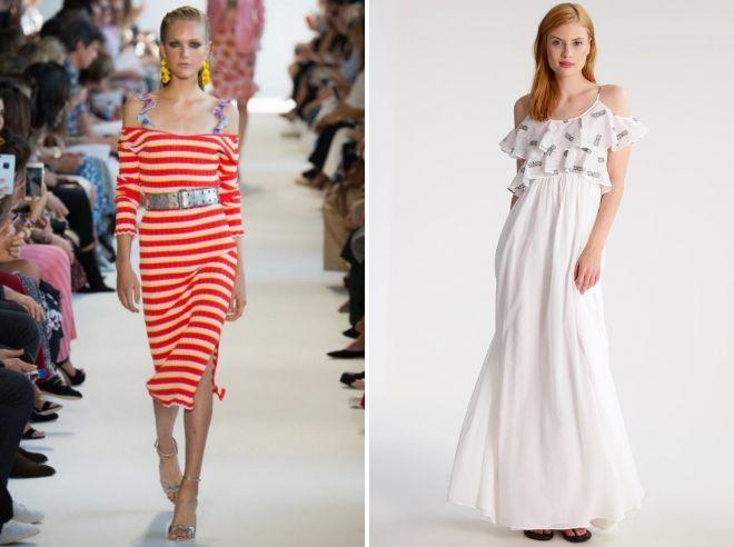 как носить платье с открытыми плечами