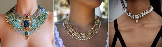 украшения для платья с открытыми плечами