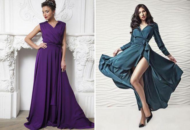0ad3f6456a0 Красивое платье с запахом – длинное в пол