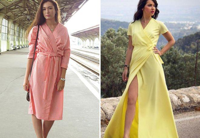 baecb4856a4 Красивое платье с запахом – длинное в пол
