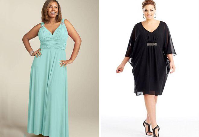 Платье в греческом стиле для полных