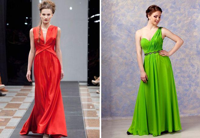 Платья в греческом стиле ярких расцветок