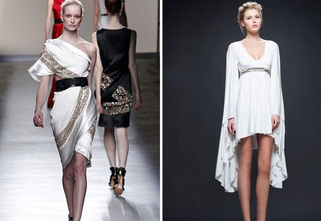 Короткие греческие платья