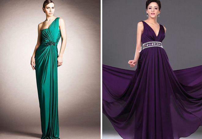 Длинные греческие платья