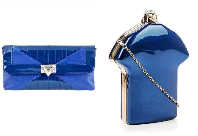4ad6dd3b1605 Модный синий клатч – замшевый, бархатный, лаковый, на цепочке, со ...