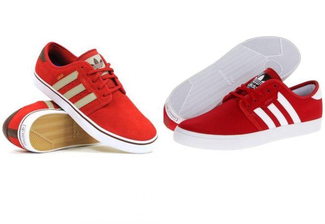 красные кеды adidas