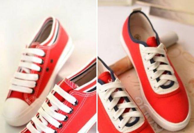 стильные красные кеды