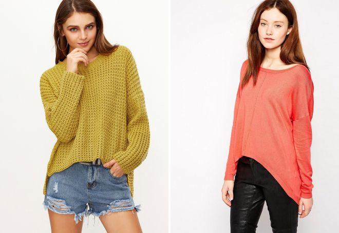 свитер впереди короткий сзади длинный