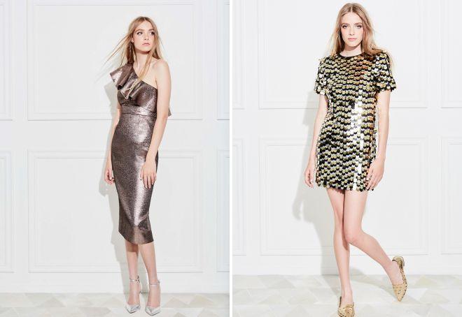 блестящие платья на новый год 2018