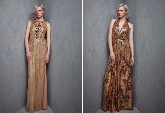 золотое платье на новый год 2018