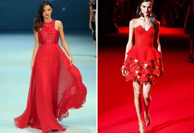 красные платья на новый год 2018