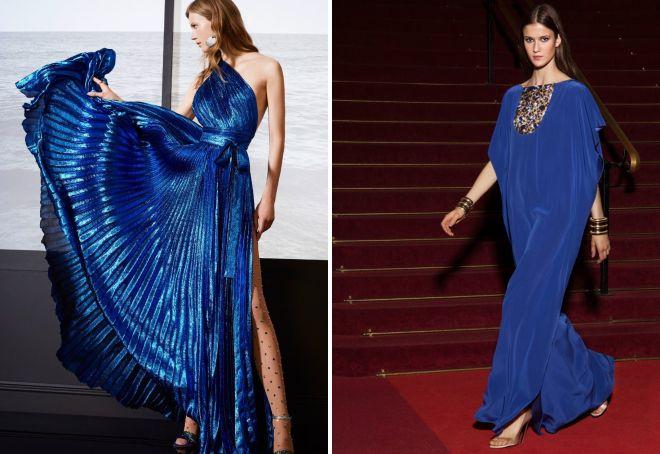 синие платье на новый год 2018