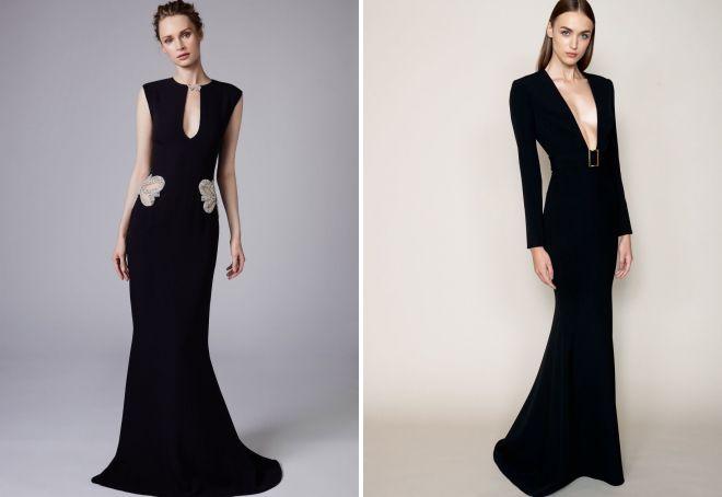 черное платье на новый год 2018