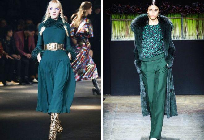 модные цвета в одежде зима 2017 2018