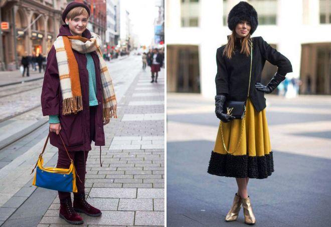 зимняя одежда уличная мода