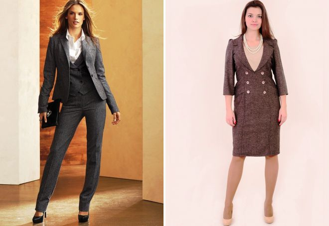 зимняя одежда для женщин в офис