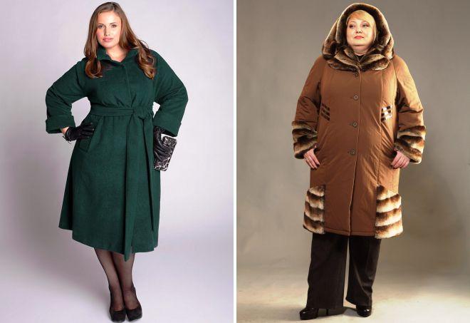 зимняя одежда для полных женщин