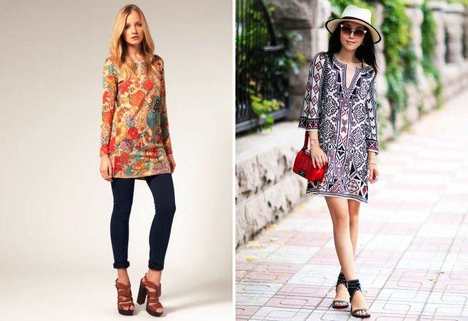 96f64dae979c7aa Стильное платье-туника – вязаное, трикотажное, джинсовое, из шифона ...