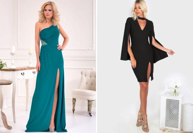 861244e1b1874f0 Модное платье с разрезом – на ноге, по бокам, от бедра, на спине ...