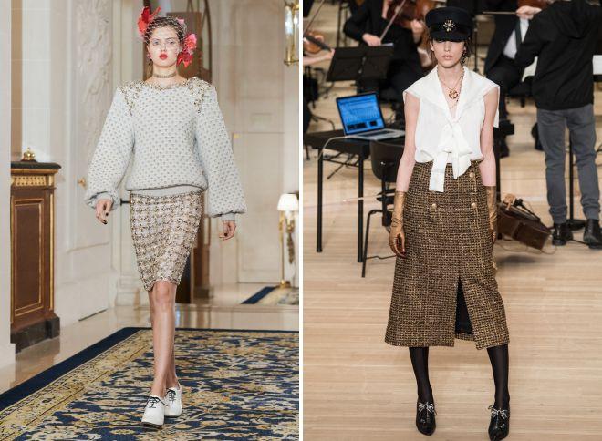 модные образы 2018 с юбкой