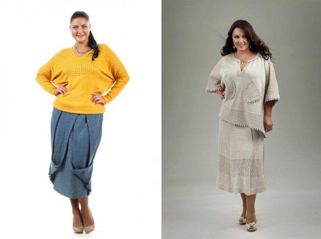 модные женкие юбки больших размеров