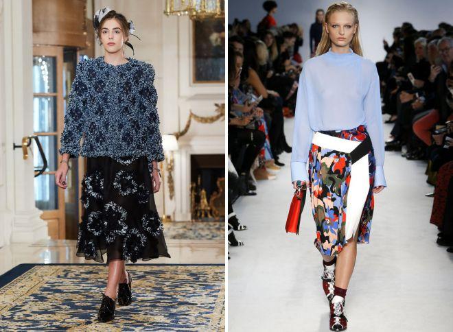 2018 images à la mode de l'année avec une jupe