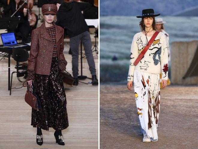 длинные юбки 2018 образ