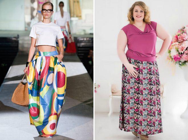модные длинные юбки 2018 года
