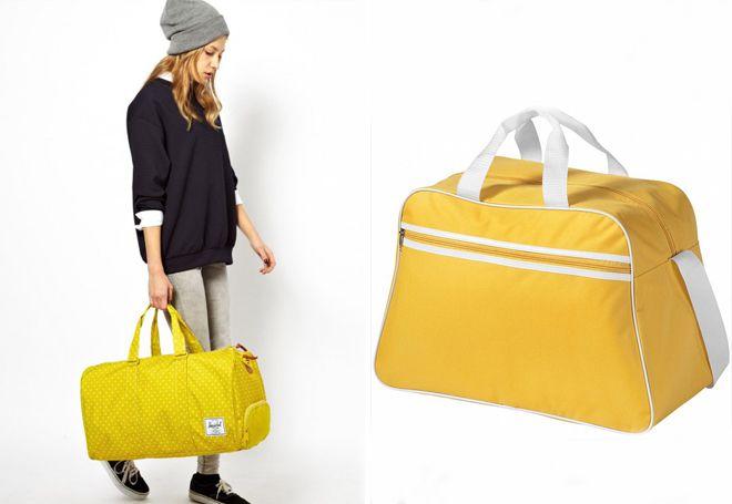 желтая спортивная сумка