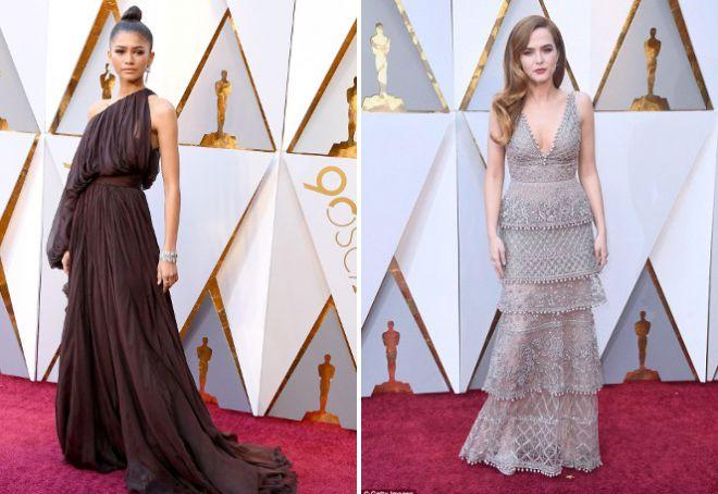 5c52e15f4eecd30 Оскар 2018 – платья звезд на церемонии – самые красивые, роскошные ...