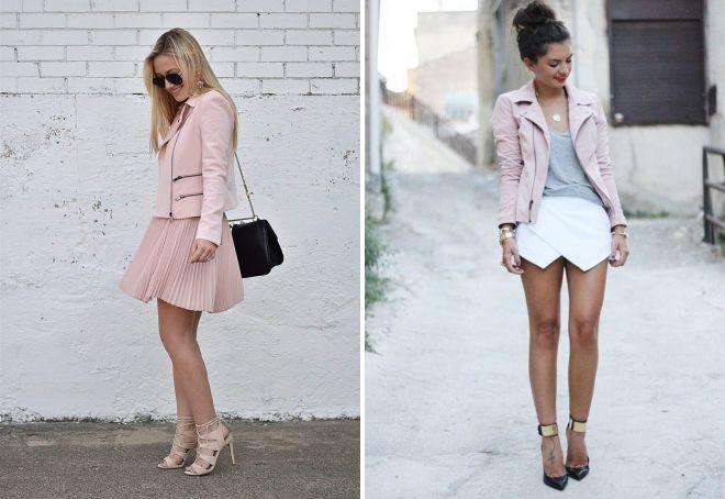 розовая кожаная куртка какая обувь