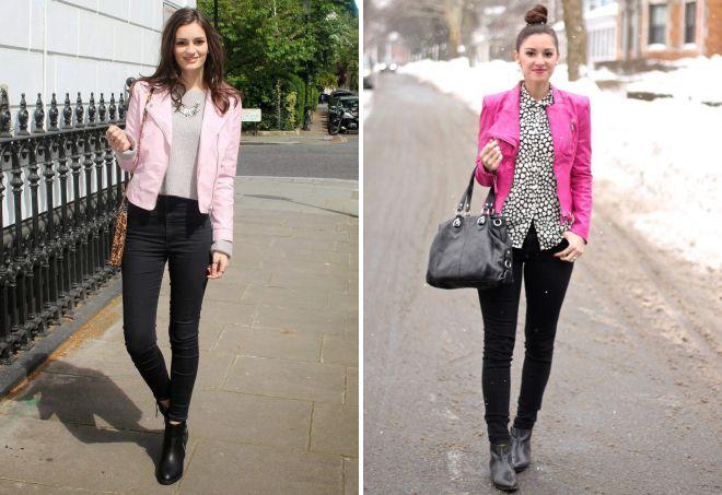 обувь под розовую кожаную куртку