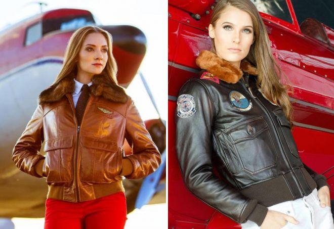 куртка пилот из натуральной кожи