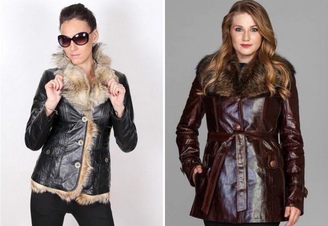 кожаные зимние куртки из натуральной кожи