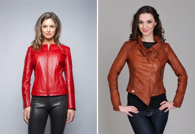 демисезонные куртки из натуральной кожи