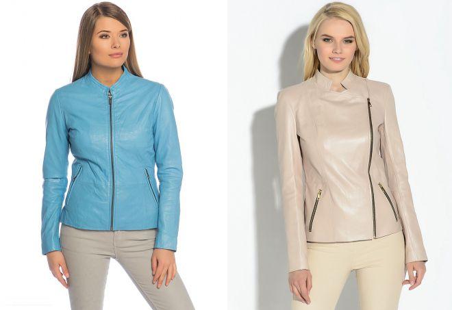 женские кожаные куртки из натуральной кожи на весну