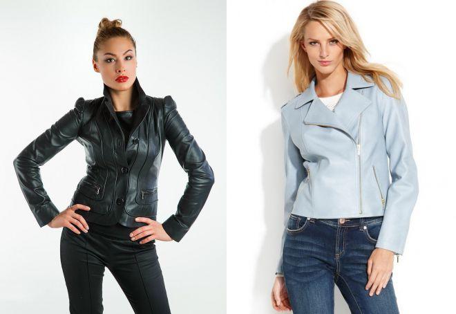 модные натуральные кожаные куртки