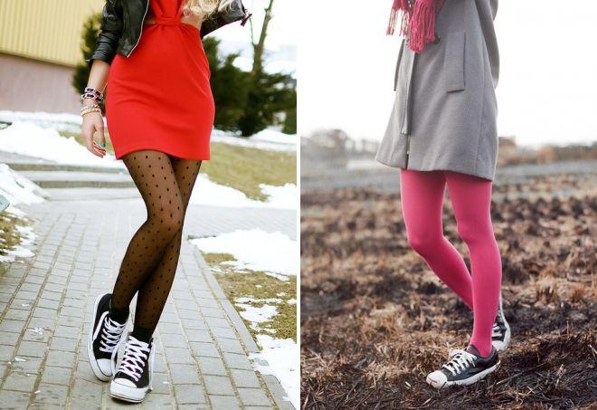 цвет колготок и обуви
