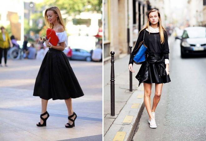 модные черные юбки 2017