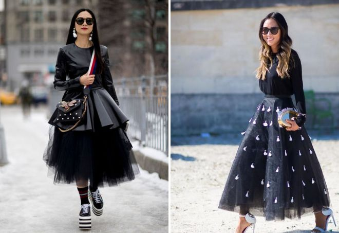 пышная черная юбка
