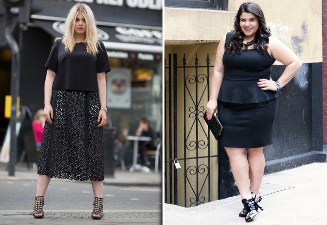 черные юбки для полных