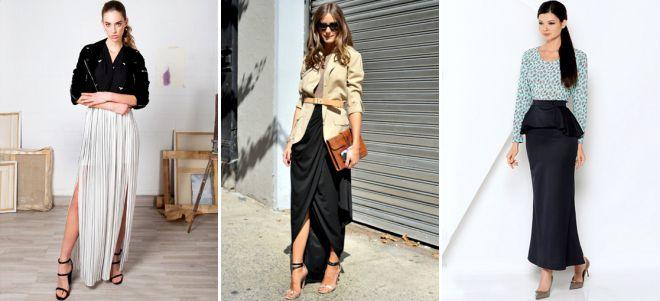 С какой обувью носить длинную юбку летом
