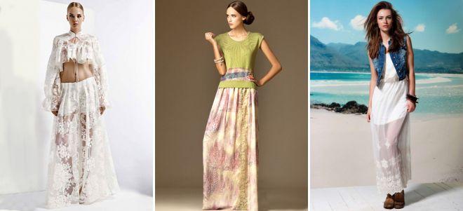 Модные длинные юбки на лето