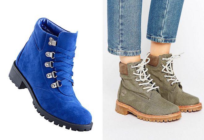9281e458 Модные женские ботинки на шнурках – зимние, на каблуке и без ...