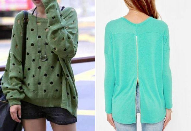 зеленый свитер для женщин