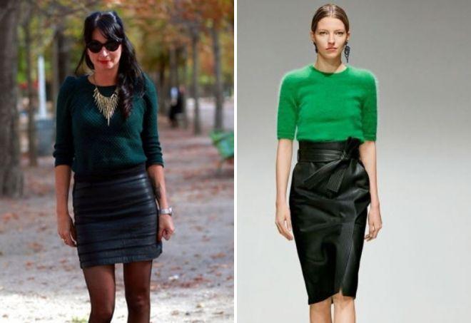 зеленый свитер образы