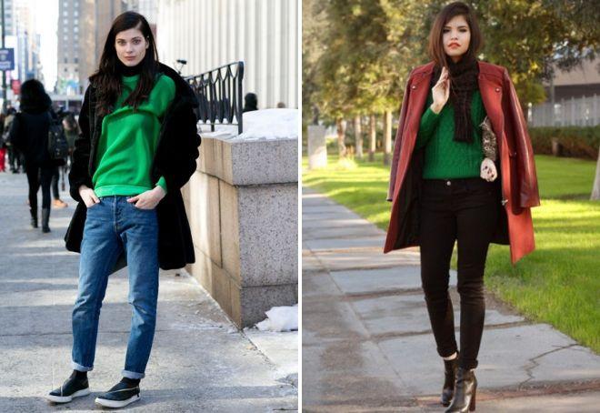 зеленый свитер луки