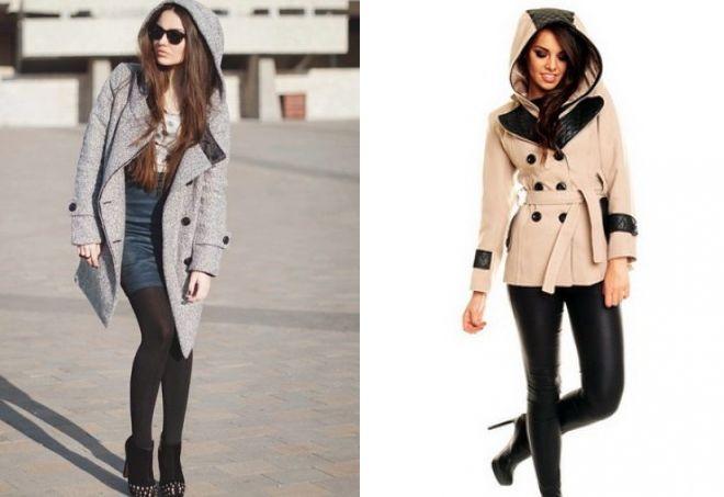 с чем носить короткое бежевое пальто